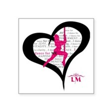 "LM Dancer Heart Square Sticker 3"" x 3"""