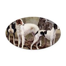 Borzoi And Sighthounds Oval Car Magnet
