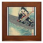 Japanese Art Framed Tile
