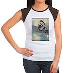 Japanese Art Women's Cap Sleeve T-Shirt