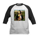Mona Lisa - Basenji Kids Baseball Jersey