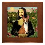 Mona Lisa - Basenji Framed Tile
