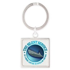 Silent Service Square Keychain