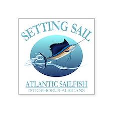"Setting Sail Square Sticker 3"" x 3"""