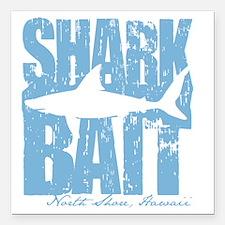 """Shark Bait Square Car Magnet 3"""" x 3"""""""