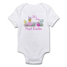 1st Easter Baby! Pink First Easter Infant Bodysuit