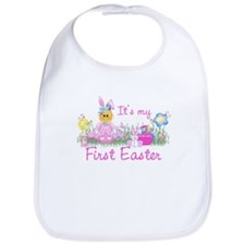 1st Easter Baby! Pink First Easter Bib