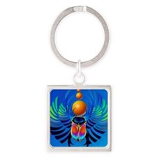 Scarab-The Divine Square Keychain