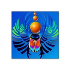 "Scarab-The Divine Square Sticker 3"" x 3"""