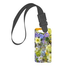 Purple and Yellow Spring Flowers Luggage Tag