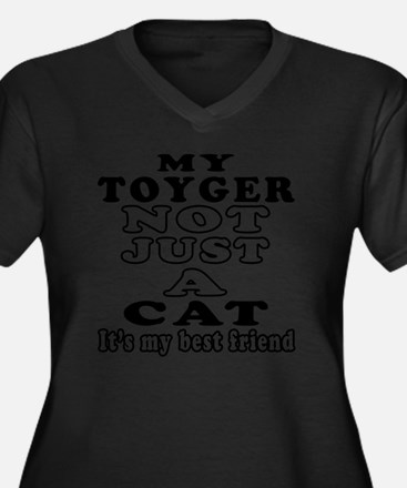 My Toyger no Women's Plus Size Dark V-Neck T-Shirt