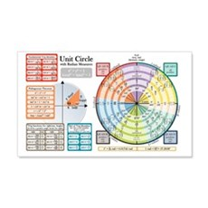 Unit Circle with Radians Wall Sticker