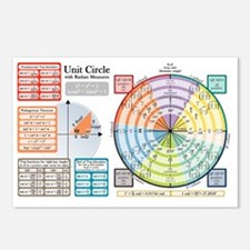 Unit Circle with Radians Postcards (Package of 8)