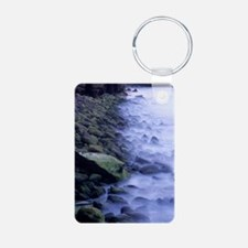 Mist and Green Rocks Keychains