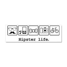 Hipster life Car Magnet 10 x 3