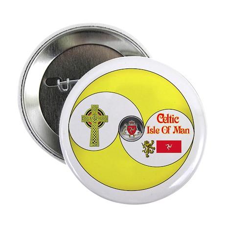 "Celtic Manx.:-) 2.25"" Button (100 pack)"