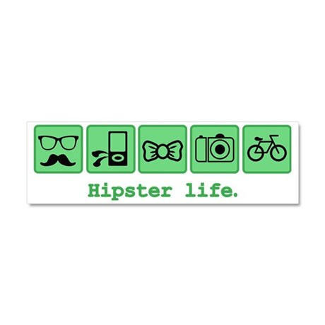 Like A Hipster Car Magnet 10 x 3