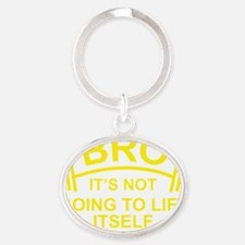 LiftItselfBro1D Oval Keychain