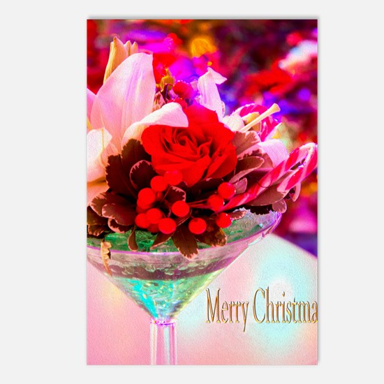 Merry Christmas With Rose Postcards (Package of 8)