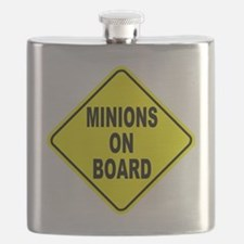 Minions on Board Car Sign Flask