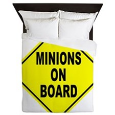 Minions on Board Car Sign Queen Duvet