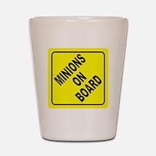 Minions on Board Car Sign Shot Glass