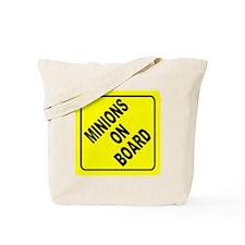 Minions on Board Car Sign Tote Bag
