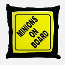 Minions on Board Car Sign Throw Pillow