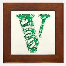 Distressed Vegan Framed Tile