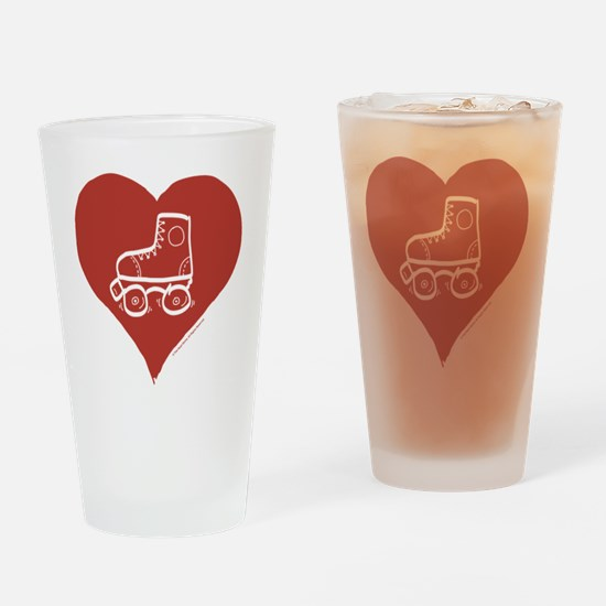 Love - Skates Drinking Glass