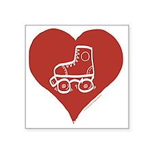 "Love - Skates Square Sticker 3"" x 3"""