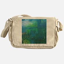 Abstract Blue Green Modern Landscape Messenger Bag