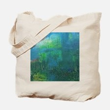 Abstract Blue Green Modern Landscape Tote Bag