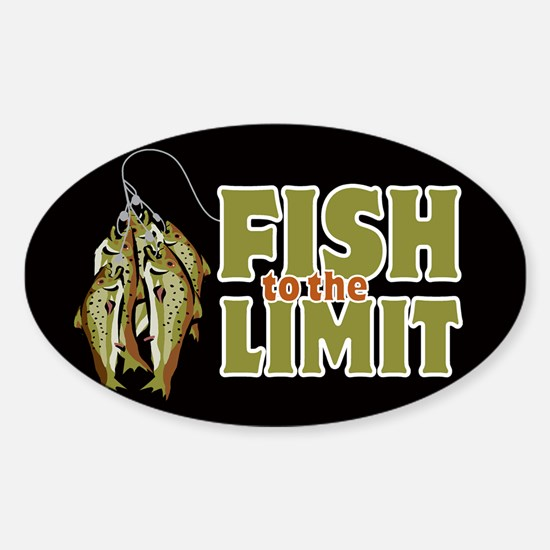Fish To The Limit Oval Decal