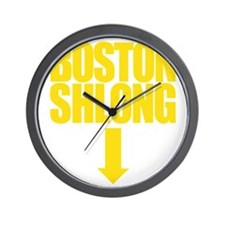 BOSTON SHLONG Logo Wall Clock