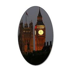 Stunning BIG Ben London 35x21 Oval Wall Decal