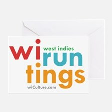 wi run tings Greeting Card