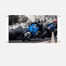 Racing the rain Banner