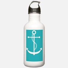 Teal Anchor Water Bottle