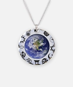 Im a Global Developer Necklace Circle Charm