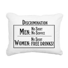 MEN: No shirt No service Rectangular Canvas Pillow