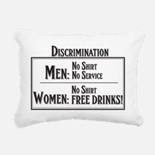 MEN: No shirt No service Rectangular Canvas Pillow