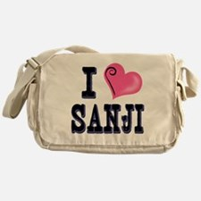 I Love Sanji dark Messenger Bag