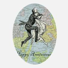 Dancing Anniversary Oval Ornament
