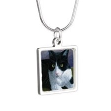Cat 577 Silver Square Necklace