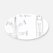 The Splitter Oval Car Magnet
