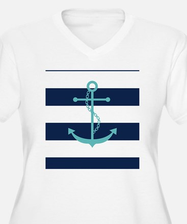 Teal Anchor on Na T-Shirt