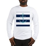 Nautical anchor Long Sleeve T-shirts