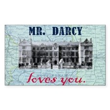 Mr. Darcy Loves You Decal
