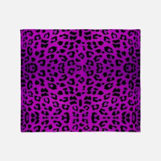 Purple Cheetah Animal Print Throw Blanket